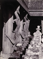 Carving on balustrade of Queen's Monastery, [Mandalay]